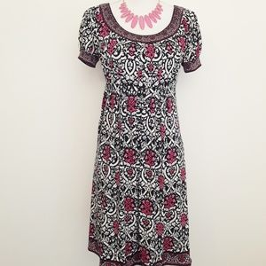 London Style Collection Printed Dress EUC